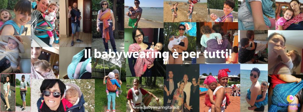 il babywearing per tutti